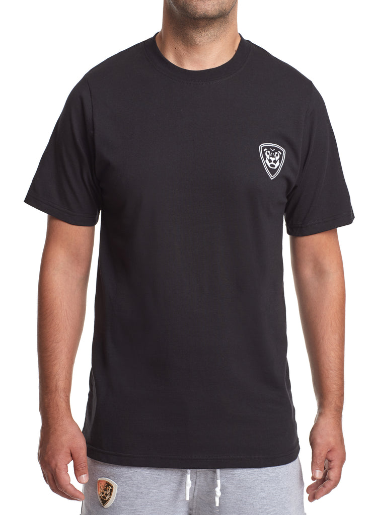 Premium Collection BLACK T-SHIRT with white logo