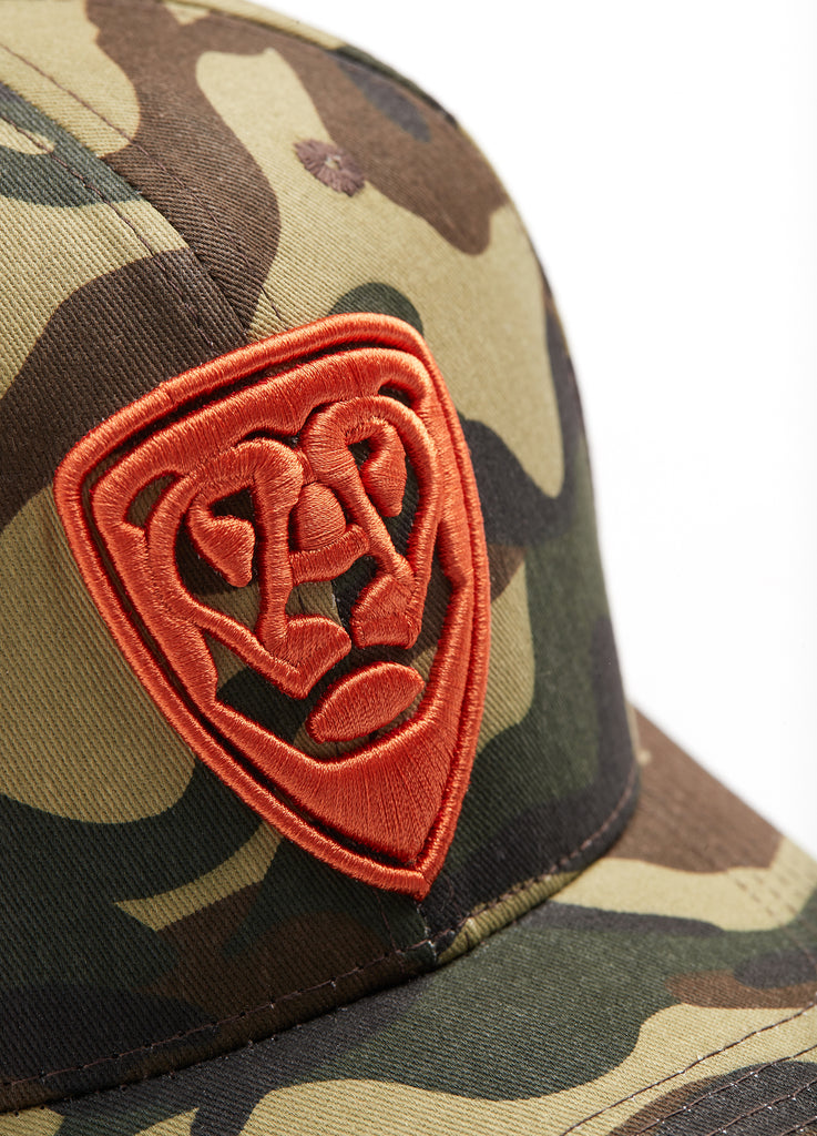 Special Pieces CAMO CAP with orange logo
