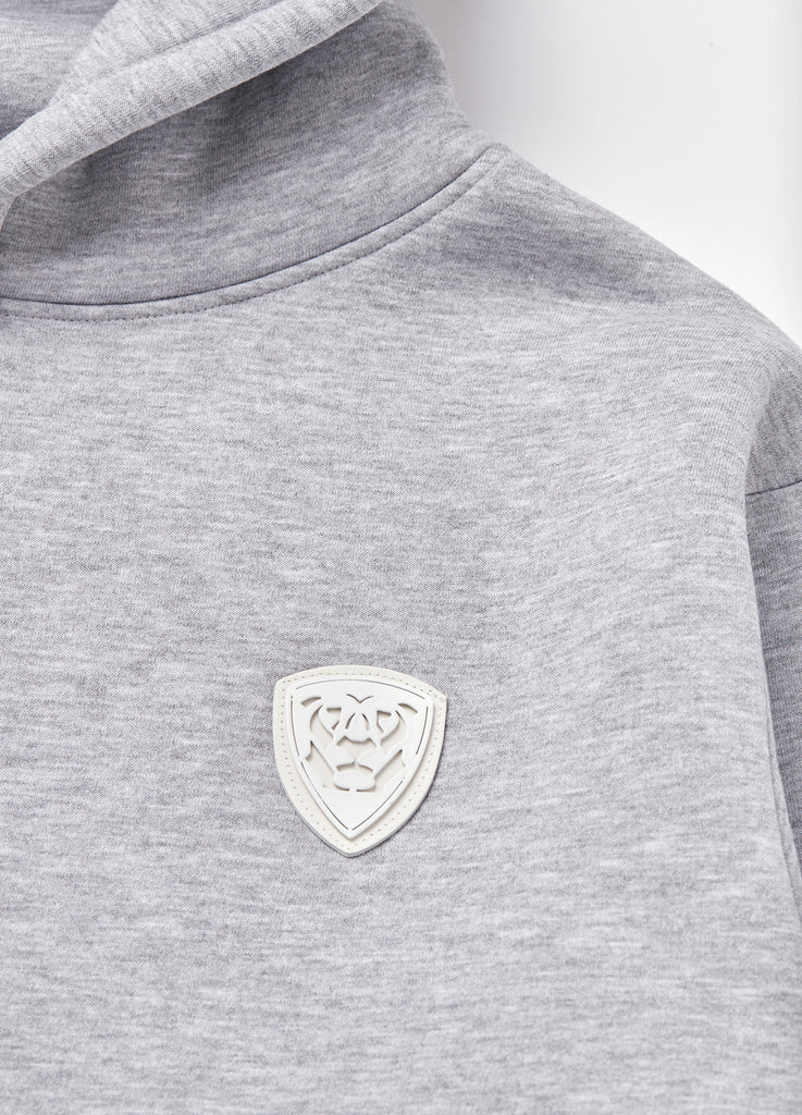 Member Collection GREY HOODIE with white logo