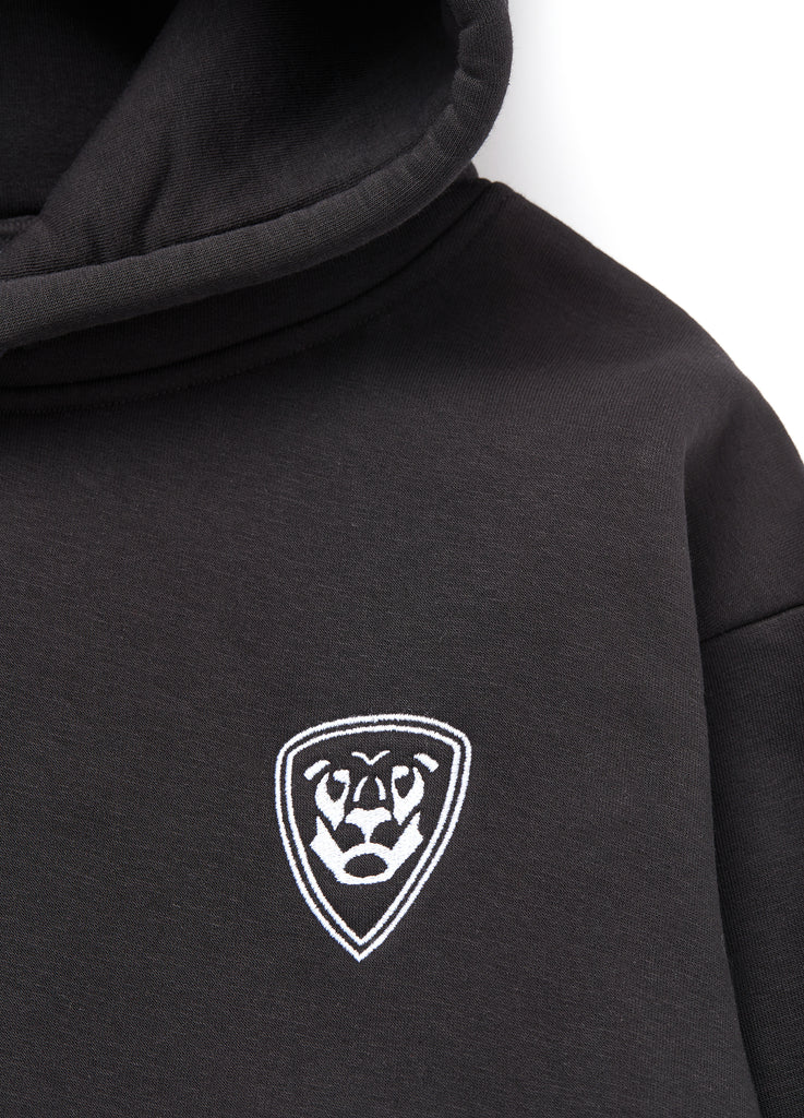 Premium Collection BLACK HOODIE with white logo