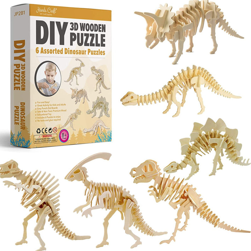 3D Wooden Puzzle Assorted Dinosaur Puzzles