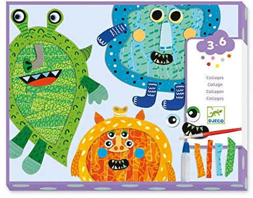 Collage Happy Monster Tear and Stick Kit