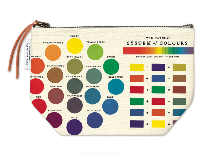 Color Wheel Vintage Pouch