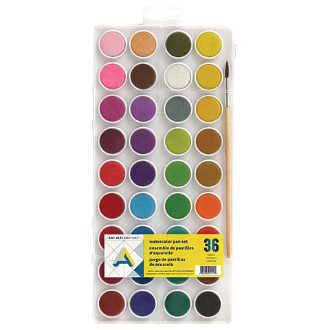 Art Alternatives Watercolor Pan Set 36