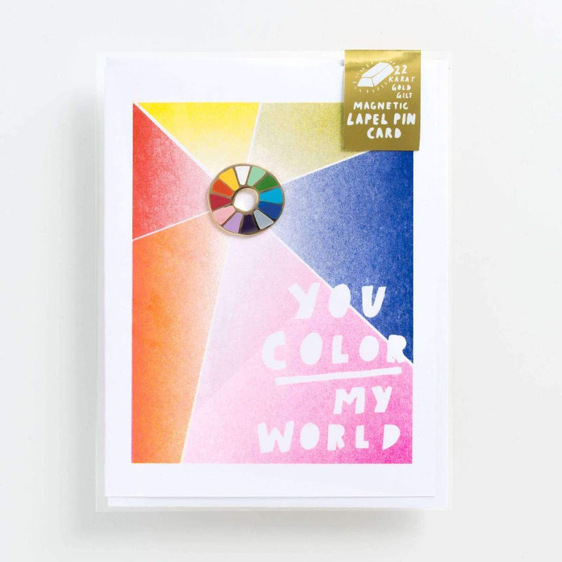 Color Wheel Pin and You are My World Card