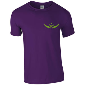 Artisan Round Neck T-Shirt Purple