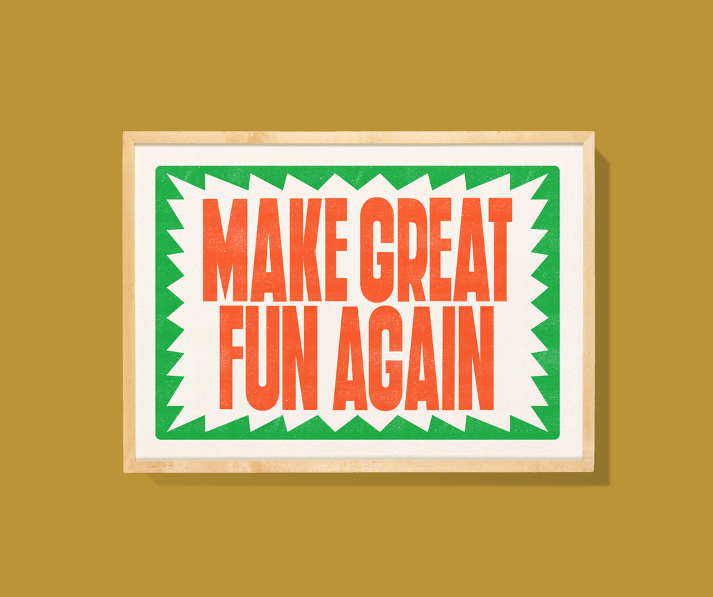 Risographie A3 - Make Great Fun Again