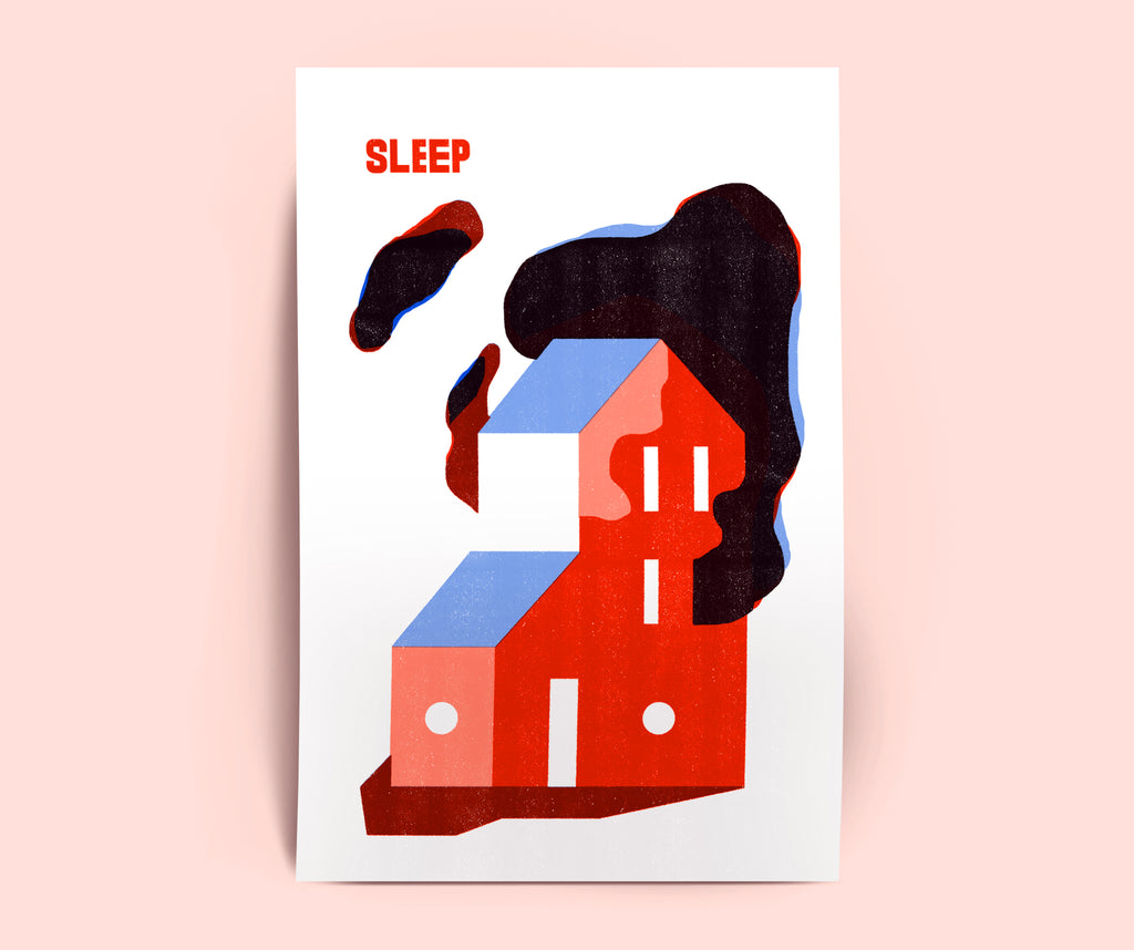 Risographie A2 - SLEEP