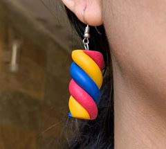 Handmade polymer clay marshmallow earrings