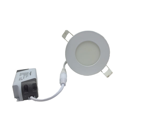 LED Light Round Panel- 3W - Energy efficient white light