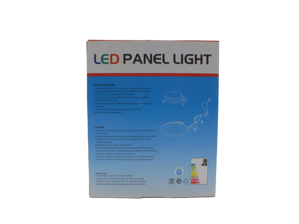 LED Light Round Panel- 9W - Energy efficient white light