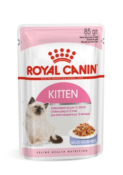 ROYAL CANIN Kitten Jelly Complete feed for cats - Specially for 2nd age kittens up to 12 months old (thin slices in jelly).  Find a local retailer