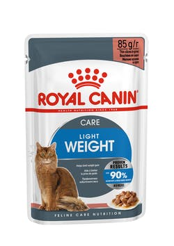 ROYAL CANIN Light Weight Care Gravy  Complete feed for adult cats (thin slices in gravy).