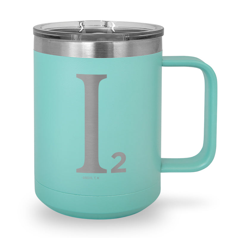Industrial Illusions Logo - Laser Etched Stainless Steel Coffee Mug