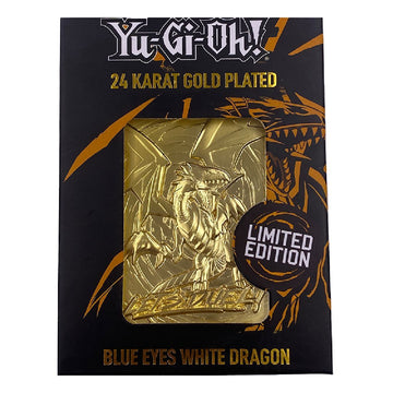 Blue-Eyes White Dragon Collectible 24K Gold Plated Metal Card - Ships April 2021. Pre-orders End January 31st.