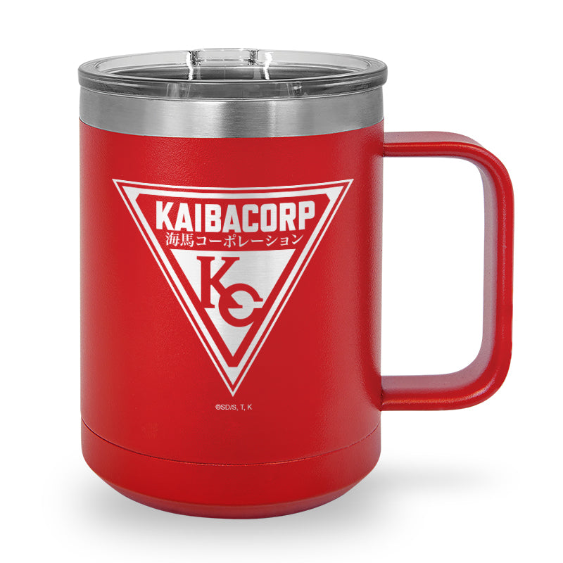 Kaiba Corp Emblem - Laser Etched Stainless Steel Coffee Mug