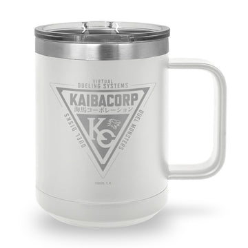 Kaiba Corp Dueling System - Laser Etched Stainless Steel Coffee Mug