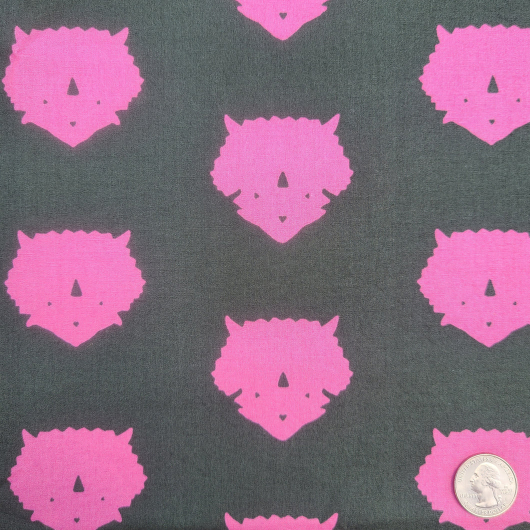 Made to Order Mask-  Triceratops- Pink