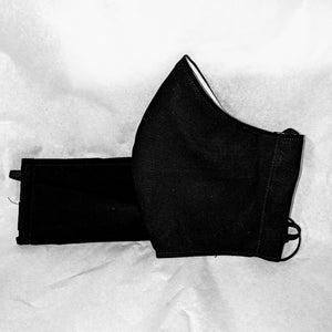 Made to Order Mask- Solid Black