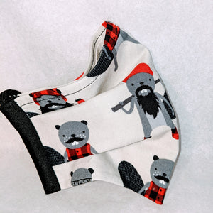 Made to Order Mask-  Lumberjack beavers