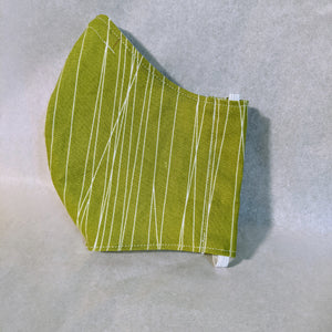 Made to Order Mask-  Green Lines