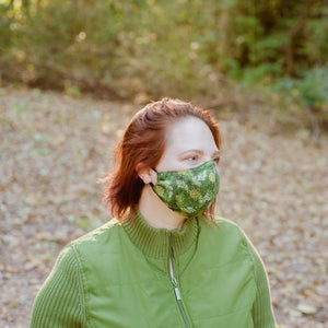Made to Order Mask- Winter Greenery