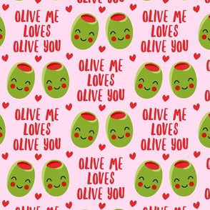 Made to Order Mask:  Valentine's Day - Olive Me Loves Olive You