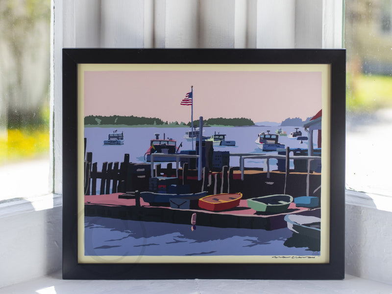 "Spruce Head Island Art Print 8"" x 10"" Framed Wall Poster - Maine"