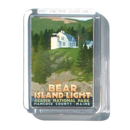 "Bear Island Light 2"" x 2 3/4"" Acrylic Magnet - Maine"