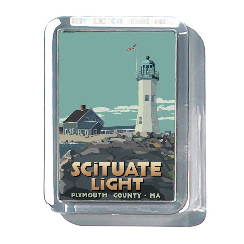 "Scituate Light 2"" x 2 3/4"" Acrylic Magnet - Maine"