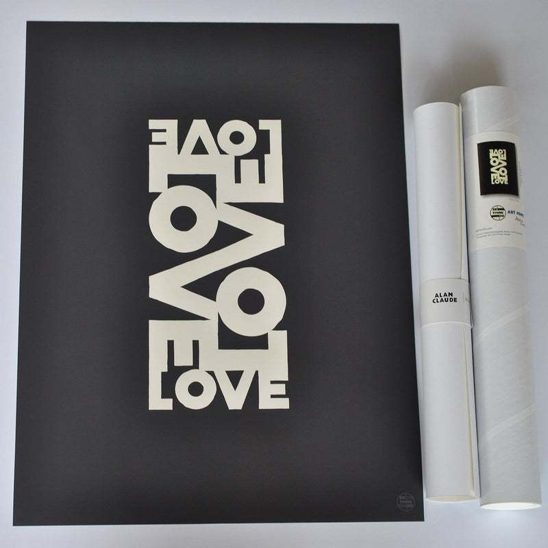 "Love Energy - Graphite Art Print 18"" x 24"" Wall Poster"