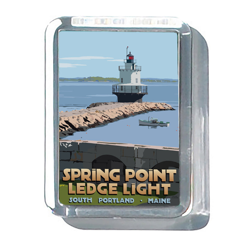 "Spring Point Ledge Light 2"" x 2 3/4"" Acrylic Magnet - Maine"
