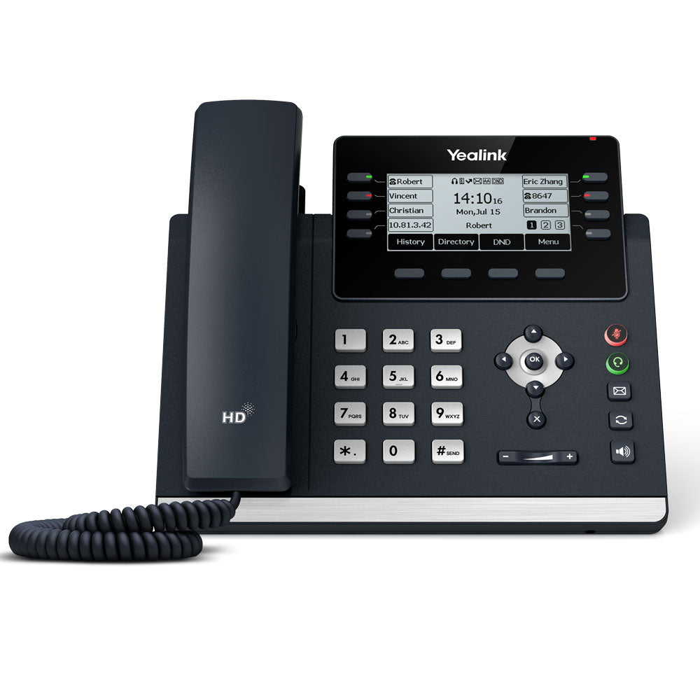 Yealink Advanced Gigabit IP Phone With Dual USB Ports - SIP-T43U