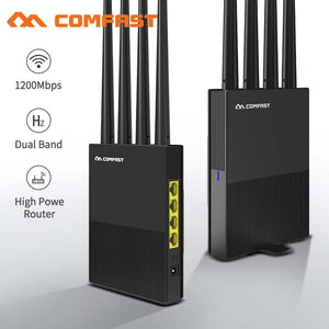 AC1200 Dual Band Wireless WiFi Router 2.4G+5Ghz Wan/Lan Smart Wi-Fi Router/Access Point Router 4*5dBi High Gain Antenna Router