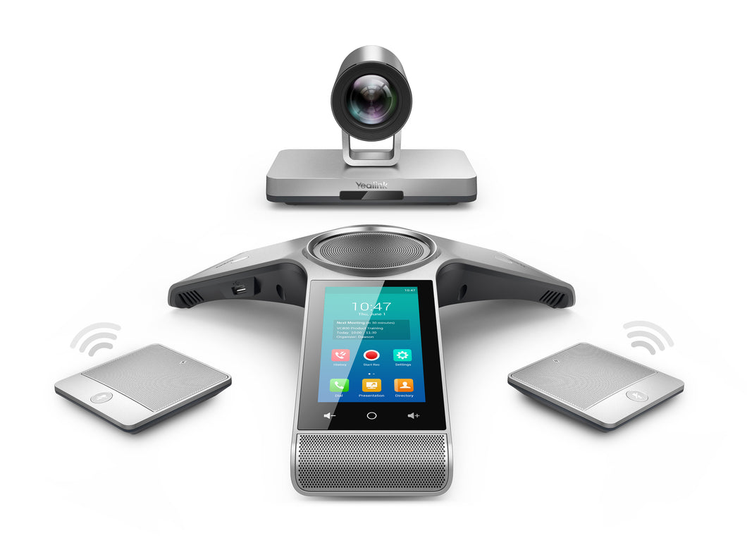 Yealink Large Boardroom Video Conferencing Solution with MCU Option - Visual Communications - Let's Fibre Technologies