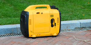 portable generator on ground