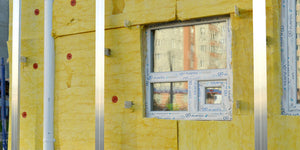 wall insulation around window frame