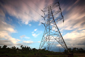 smart grid power lines running across the country
