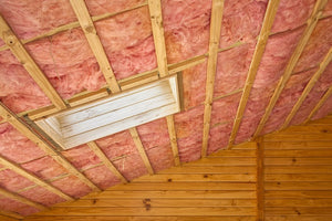 newly installed attic insulation