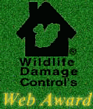 Wildlife Damage Control's Web Award winner