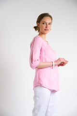 Carnation Button Front Top