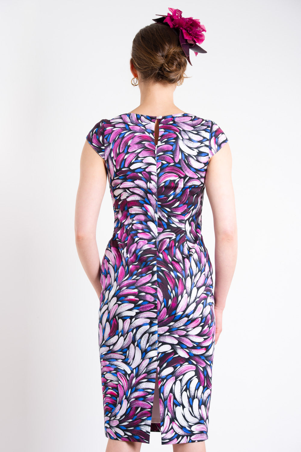 Pink Bush Medicine Leaf Cotton Dress