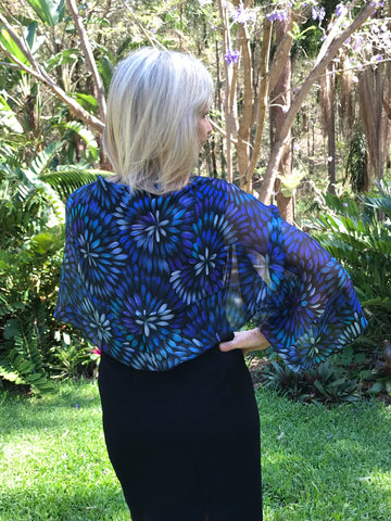 Bush Medicine Flower Silk Chiffon Shrug/Scarf