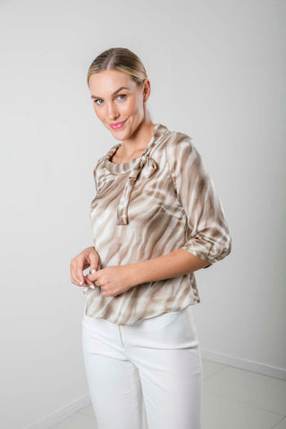 Sandy Silk Top