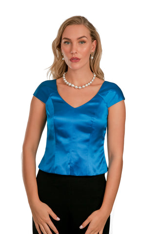 Peacock Silk Top