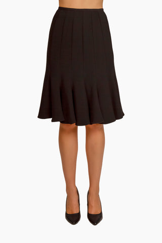 Black Milano Flippy Skirt