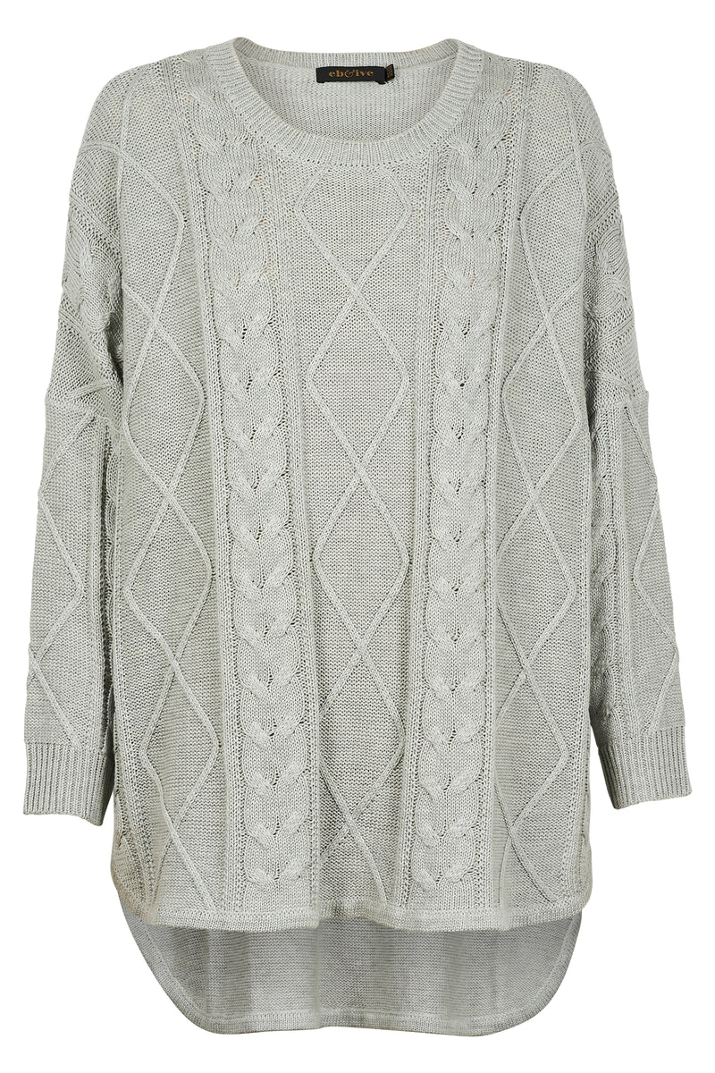 Eb & Ive Unwind Cable Knit Marle