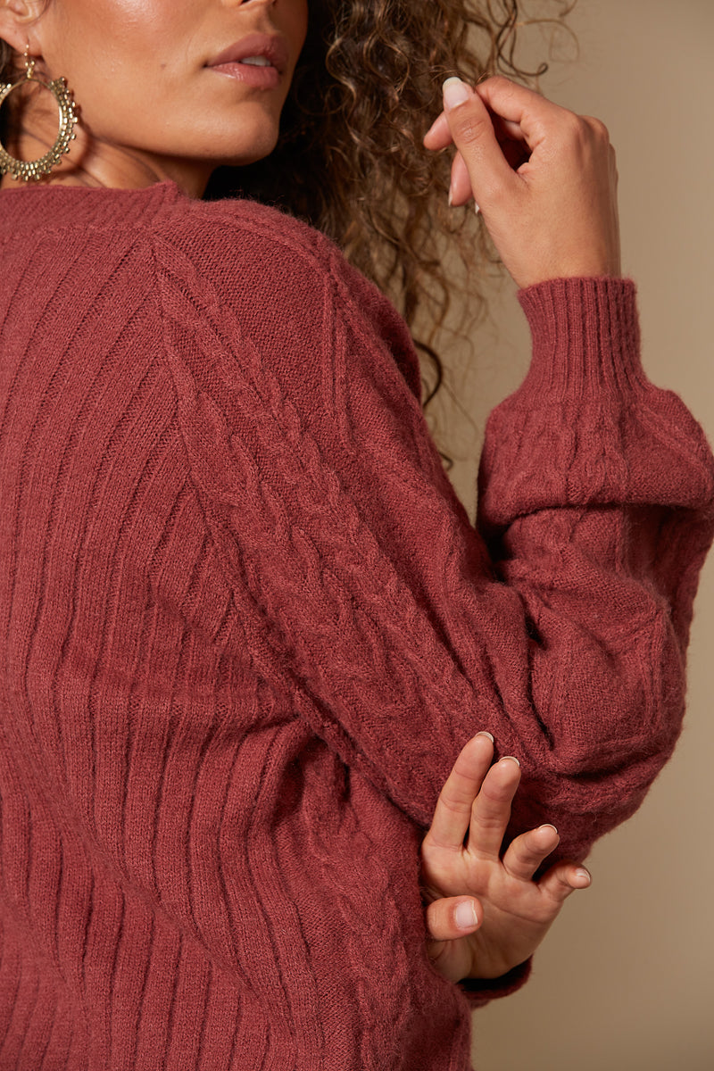 Isle Of Mine Awaken Cable Cardigan Clay
