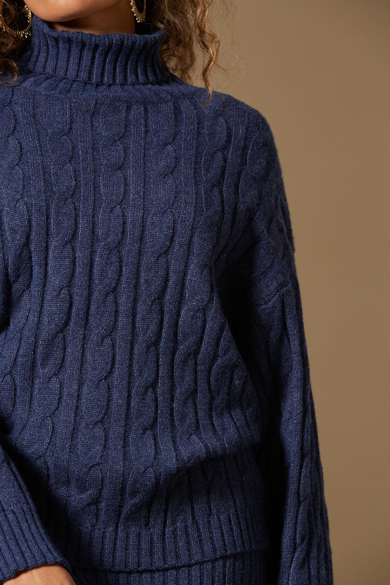 Isle of Mine Clarity Cable Knit Indigo