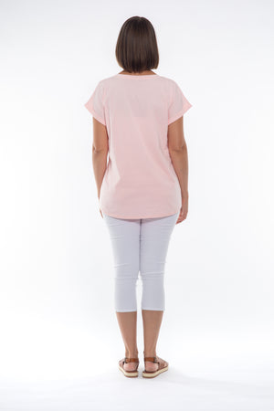 Cafe Latte Tshirt Pink CLM134